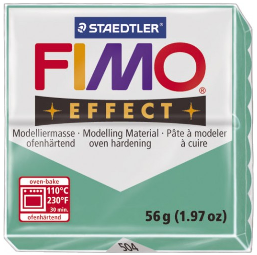 Fimo Effect - 56 gram - Grön transparent 504
