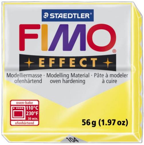 Fimo Effect - 56 gram - Gul transparent 104