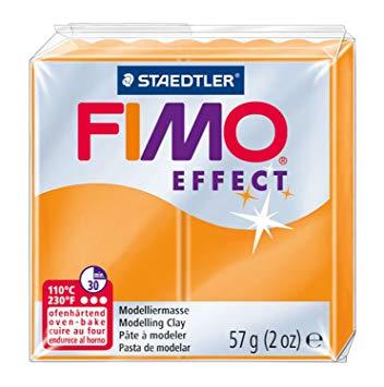 Fimo Effect - 56 gram - Orange transparent 404