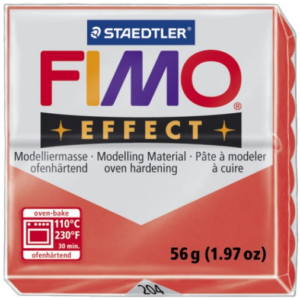 Fimo Effect - 56 gram - Röd transparent 204