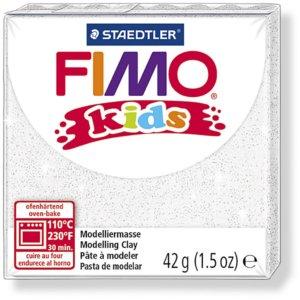 Fimo kids - 42 gram - Glitter vit 052