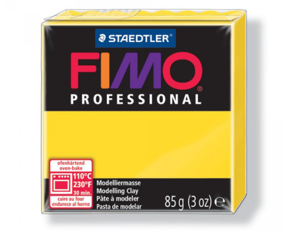 Fimo Professional - 85 gram - Äkta gul 100