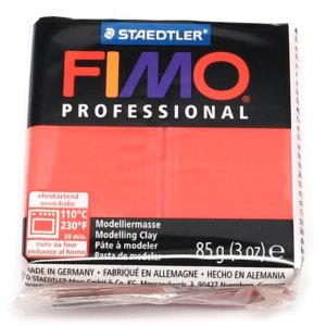Fimo Professional - 85 gram - Äkta röd 200