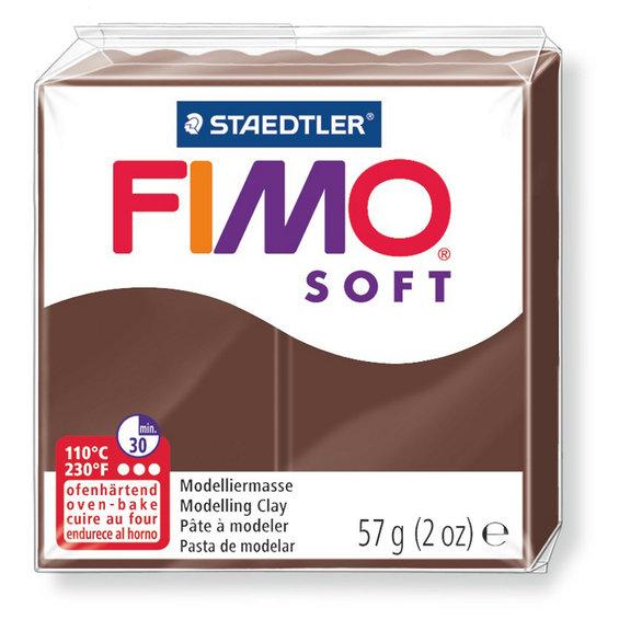 Fimo Soft - 56 gram - Chokladbrun 75