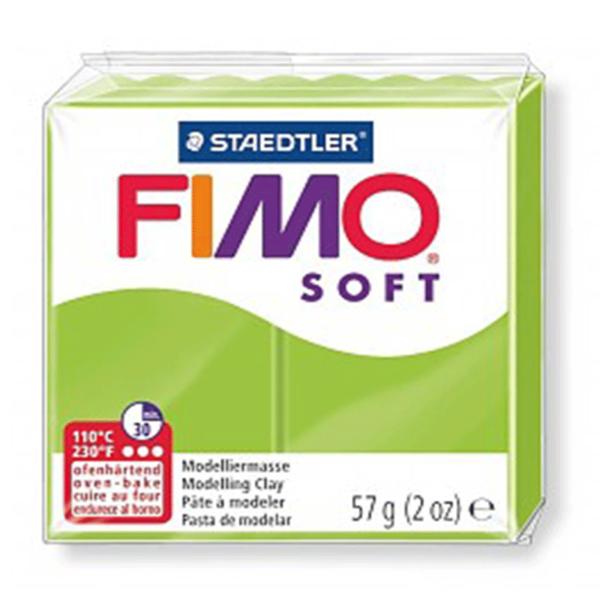 Fimo Soft - 56 gram - Grönt äpple 50