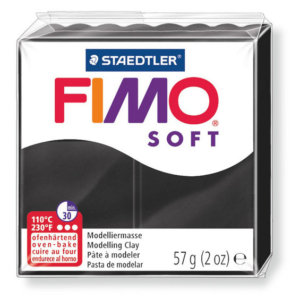Fimo Soft - 56 gram - Svart nr 9